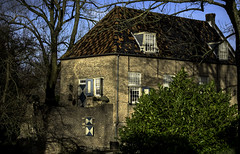 Koetshuis, voormalig kasteel Liesveld (Eduard van Bergen) Tags: dutch holland niederlande wooden vista water trees wind green nature white earth little plants orchard landscape ground soil polder land light lights olanda out outside outdoor molenwaard liesveld nederland netherlands plant architecture building koetshuis kasteel castle erfgoed ancient old vintage adel nassau dietz baron baronie nobility noble aristocrasy estate house family alblasserwaard koning king maxíma koningin slot burcht paarden horses pferde willem alexander 18767 rijksmonument