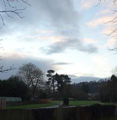 Across the empty caravan park (Phil Gayton) Tags: fence grass tree sky cloud caravan park steamer quay road totnes devon uk
