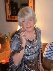Wistful Woman (Laurette Victoria) Tags: woman laurette necklace blonde dress earrings