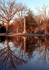 "Cincinnati - Spring Grove Cemetery & Arboretum ""Morning Light On Obelisk"" (David Paul Ohmer) Tags: spring grove cemetery arboretum cincinnati ohio springgrove cemetary morning light obelisk reflection"