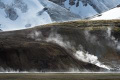 Heart of Iceland (Dani℮l) Tags: iceland landmannalaugar ice snow hotpool geothermic geothermie volcanic danielbosma stoom steam cold people river