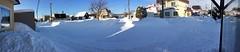 -12°C Panorama (sjrankin) Tags: 22january2019 edited snow weather sky cold winter neighborhood houses roads field wires lines kitahiroshima hokkaido japan