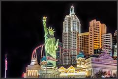 New York, New York ? (Schnitzel_bank) Tags: lasvegas nevada usa unitedstates boulevard nachtaufnahme nightphotographie eos60d missliberty skyline night nacht abend evening hdr sincity canoneos canon newyork