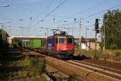 SBB Cargo 421 387 + Hangartner Rostock - Verona  - Genshagener Heide (Rene_Potsdam) Tags: genshagenerheide brandenburg deutschland railroad treinen trains trenes züge europa br421 sbbcargo