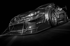 STI (Dave GRR) Tags: subaru sti sportscar supercar widebody bodykit carbon splitter skirt toronto auto show 2018 rims monochrome mono black white olympus