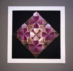 Origami (anuradhadeacon-varma) Tags: modular paperfolding goldandpurple christmascard greetingscard origami