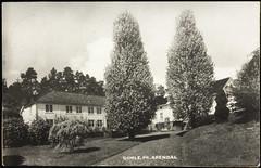 Postkort fra Agder (Avtrykket) Tags: bolighus hus park postkort sommersted våningshus arendal austagder norway nor