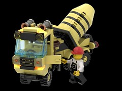 6682_Cement_Mixer_R08 (N2Brick) Tags: cement mixe 6682 lego set