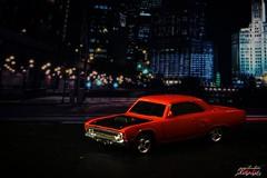 Parked 3 (psychosteve-2) Tags: chrysler plymouth car model toy macro city backdrop orange