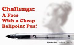 Challenge: Drawing a Pretty Face With a Cheap Pen (fineart-tips) Tags: art drawing finearttips sketch ballpointpen challenge face tutorial artistleonardo leonardopereznieto patreon tutto3