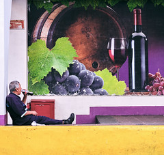 Streets of Mexico City (Frederik Trovatten) Tags: streetphotography street streets streetportrait streetphotographer streetphotos wine cola man sitting break glass candid candidphotography mexico mexican mexicocity fuji fujinon fujifilm