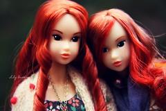 Rose and Robin (♥ Lily Queens ♥) Tags: momoko doll sekiguchi robin retro mermaid rose fall wild love