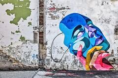 Les rides du vieux Bordeaux maquillées par Arber Vtimes (Isa-belle33) Tags: architecture urban urbain city ville bordeaux fujifilm albervtimes mask masque street streetphotography streetart streetartbordeaux colors couleurs picture dessin old ancien wall mur