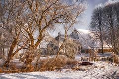 Winter is coming. (jacqaar) Tags: jacquesaarts 2010 painterlly bridge snow landscape farmhouse trees winter