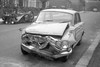 Crashed Car South London 1960s (hoffman) Tags: traficaccident crashed road car davidhoffman wwwhoffmanphotoscom