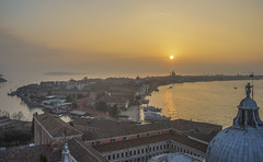 Sunset in Venice (y.mihov, Big Thanks for more than a million views) Tags: venice venezia sonyalpha sightseeing sigma skyes sea street sunset church clouds chapel water winter wide window trespass travel tourist tower above historical house holiday hill italy islands outdoor architecture art