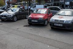 Trzy rodzaje tablic rejestracyjnych (71piotr) Tags: balkan балкан novipazar sandżak serbija serbia kosovskamitrovica mitrovica kfor kosovo