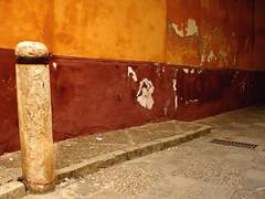Stone Bollard (only lines) Tags: stone bollard seville wall orange street