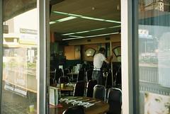 (homesickATLien) Tags: 35mm film art kodak analog expired mjuiii olympus melbourne victoria australia restaurant mirror reflection labour work