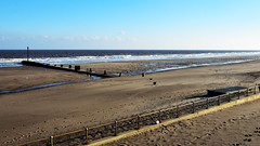Mablethorpe Beach (Travis Pictures) Tags: mablethorpe lincolnshire lincs sea seaside northsea coast coastal water blue sky resort tourism holidays winter outdoors outside nikon d7200 photoshop town