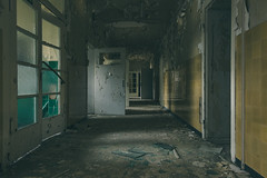 Children's Hospital (Some Place Only We Know) Tags: abandoned verlassen hospital kinderkrankenhaus children gang corridor yellow gelb old beauty dark creepy gruselig urbex decay verfall