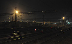 Overnighter (Headcode) Tags: electric loco locomotive class253 bombardier traxx mercancias renfe freight cartransporter cars newcars night stabled azucarera mirandadeebro castilleyleon spain 28122018 12282018 28dec2018 dsc3060 ©robertchilton
