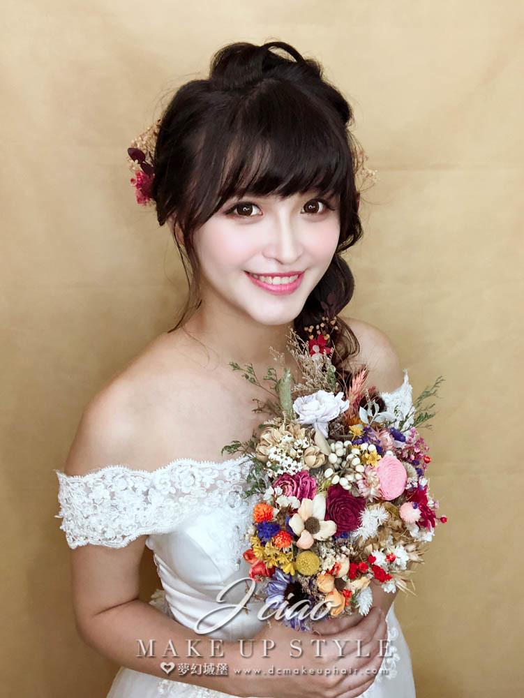 【新秘婕喬】新娘造型創作 / 甜美側邊髮