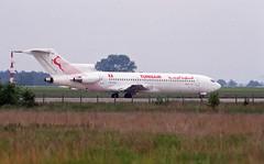 Berlin SXF 1992 Boeing 727 Tunisair (rieblinga) Tags: berlin flughafen schönefeld sxf 1992 boeing 727 tunisair analog canon eos 100 revue dia e6