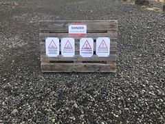 Warning signs at Svínafellsjökull