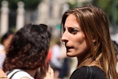 face (archgionni) Tags: people ragazza girl profilo profile portrait viso face occhi eyes capelli hair brown luce light bellezza beauty