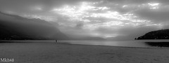 La silhouette du lac (paul.porral) Tags: landscape landschaft paysage absoluteblackandwhite bnw noiretblanc flickr ngc walk naturephotography natur monochrome lake france sky light clouds blackandwhite bw groupenuagesetciel