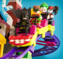 Rollercoaster Fun with Batman (Jezbags) Tags: rollercoaster fun batman robin joker dc dclego legodc lego legos toy toys harleyquinn excitement happy scared speed macro macrophotography mac macrodreams macrolego canon canon80d 80d 100mm