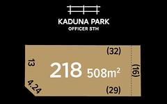 Lot 218, Kaduna Drive, Officer South VIC