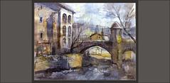 BAGÀ-PONT-ROMÀNIC-PINTURA-PAISATGES-MONUMENTS-ARQUITECTURA-HISTORIA-POBLES-BERGUEDÀ-CATALUNYA-RIU-BASTARENY-PINTURES-PINTOR-ERNEST DESCALS (Ernest Descals) Tags: bagà pont romanic puente romanico arquitectura medieval edanmedia monuments romanics ponts bridge puentes medievales otoño invierno invernales casas antiguas ancient antiguo antic paisatges rio riu berguedà barcelona catalunya catalonia cataluña artwork art arte romanicos bastareny monumentos pintar pintando pintant pintura pintures pinturas quadres cuadros cuadro paisajes paisaje landscape landscaping paisajistas pintors pintores pintor paint pictures arboles profundidad atmosfera agua water houses painters painter paintings painting ernestdescals pobles village poble pueblo pueblos impresiones plasticas plastica artistes