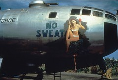 35mm slide image (San Diego Air & Space Museum Archives) Tags: unitedstatesairforce usairforce usaf noseart nosweat aviation aircraft airplane bomber militaryaviation boeing boeingb29superfortresss boeingb29 b29 b29superfortress boeingsuperfortress superfortress wrightaeronautical wrightr3350duplexcyclone wrightr3350 wrightduplexcyclone r3350 r3350duplexcyclone duplexcyclone 4487618 b2980bw