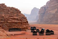 Campsite in Wadi Rum, Jordan (George Pachantouris) Tags: jordan hasemite petra aqaba amman middle east travel tourism holiday warm arab arabic wadi rum desert bedouin camel sand heat