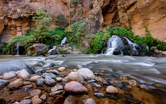Big Springs (maberto) Tags: d7200 nationalpark nikon utah zion camping hiking landscape rock sandstone ©bradmaberto water waterfall