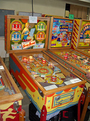 PA York - Score Board (scottamus) Tags: old vintage pinball game table machine arcade cabinet woodrail york pennsylvania whiterosegameroomshow scoreboard gottlieb 1956