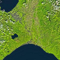 Late October in Hokkaido, variant (sjrankin) Tags: 7november2018 edited esa europeanspaceagency sentinel2 hokkaido japan sapporo lakeshikotsu ishikariwan seaofjapan pacificocean tomakomai iwamizawa ebetsu otaru zenibako kitahiroshima eniwa chitose atsuma yubari kuriyama yuni naganuma nanporo lake ishikaririver clouds ocean sea l1ct54twna01737420181020t012652 20october2018 mikasa