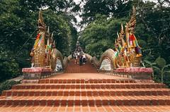 THAILAND TOUR - Day #3 Wat Phrathat Doi Suthep - Chang Mai 24 Maggio 2018 - Il terzo giorno di permanenza in questi luoghi da noi così lontani, è iniziato scalando le montagne thailandesi a bordo dell'iconico pulmino. Giunti alla meta, e cioè al tempio Wa (Maurin_S) Tags: travel pentax iphone thailand chang mai changmai temple sunny thai thailandia 2017 spring mountain wat doi suthep photoblog phototravel travelblog italian photographers