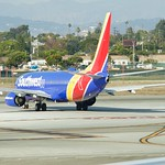 SouthWest Airlines Boeing 737 N6319x taxis to takeoff LAX DSC_0686 thumbnail