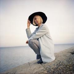 img003 (Leon-ars) Tags: portrait girl beauty film mediumformat 120film 6x6 yashica autumn portra kodak analog color