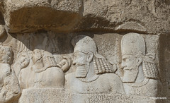 001 Bahram II and his Courtiers, Naqsh-e Rustam (2).JPG (tobeytravels) Tags: achaemenid sassanid necropolis tombs sassanian sasanian