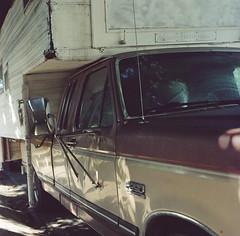 Bascom // San Jose (bior) Tags: hasselblad500cm portra160nc expiredfilm mediumformat 120 6x6cm hasselblad sanjose bascom rv street recreationalvehicle camper truck car
