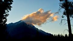 Sunset Cloud (Stefan Jürgensen) Tags: banff banffnationalpark alberta canada cascademountain mountain clouds sky cloud sunset trees tree