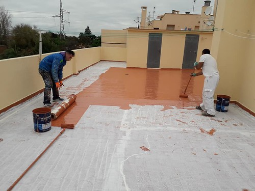 Impermeabilización de cubierta con Membrana de Poliuretano @MarisPolymers
