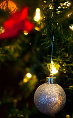 Bauble and Bow for Christmas! (J.R. Rondeau) Tags: rondeau yellowknife nt explorerhotel brunch decorations christmas xmas lights canoneos canon50mmf18 photoshopelements10