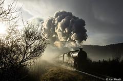 SVR-16.12.12-Arley-Morning (Karl Heath) Tags: 42968 svr severn valley railway railways train trains santa special mist glint atmospheric 2968 13268 steam engine engines uk england