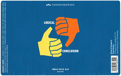 LOGICAL CONCLUSION by YARD for Threes Brewing (Label_Craft) Tags: beer beers craftbeer brew suds ale hops labels craft labelcraft beerlabel design illustration type fonts burp beerme brewery threes threesbrewing shopeatthrees ipa iipa dipa logicalconclusion gowanus brooklyn nyc