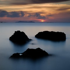 Sunset II, Kradan Island (Lux Aeterna - Eternal Light) Tags: mystical water sunset long exposure